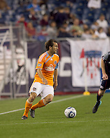 Houston Dynamo midfielder Brian Mullan (9). The New England Revolution defeated Houston Dynamo, 1-0, at Gillette Stadium on August 14, 2010.