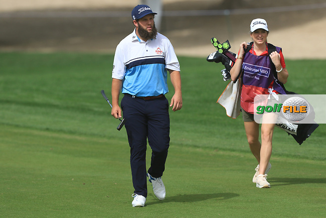 Andrew Johnston (ENG) on the 3rd during Round 1 of the Omega Dubai Desert Classic, Emirates Golf Club, Dubai,  United Arab Emirates. 24/01/2019<br /> Picture: Golffile | Thos Caffrey<br /> <br /> <br /> All photo usage must carry mandatory copyright credit (&copy; Golffile | Thos Caffrey)
