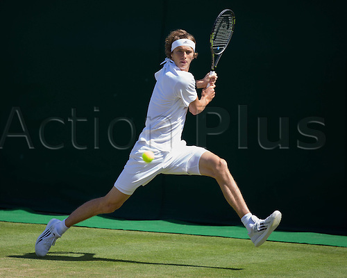 02.07.2016. All England Lawn Tennis and Croquet Club, London, England. The Wimbledon Tennis Championships Day Six.  ALEXANDER ZVEREV (GER)