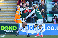 Antoni Sarcevic of Plymouth Argyle celebrates scoring during the Sky Bet League 1 match between Plymouth Argyle and Bradford City at Home Park, Plymouth, England on 24 February 2018. Photo by Thomas Gadd.
