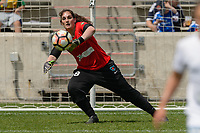 Bridgeview, IL - Saturday May 27, 2017: Michele Dalton during a regular season National Women's Soccer League (NWSL) match between the Chicago Red Stars and the North Carolina Courage at Toyota Park. The Red Stars won 3-2.