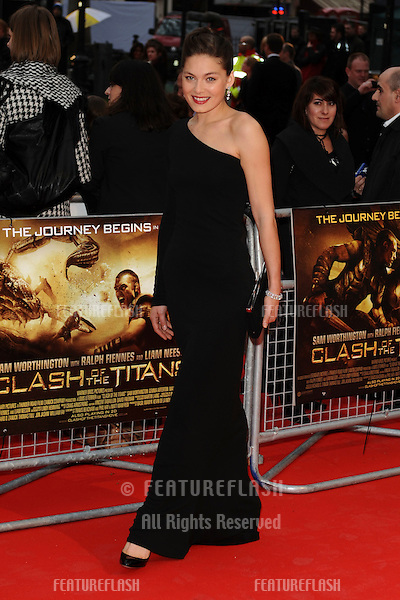 Actress, Alexa Davaros arriving for the 'Clash of the Titans' world premiere at the Empire Leicester Square, London. 29/03/2010  Picture by: Steve Vas / Featureflash