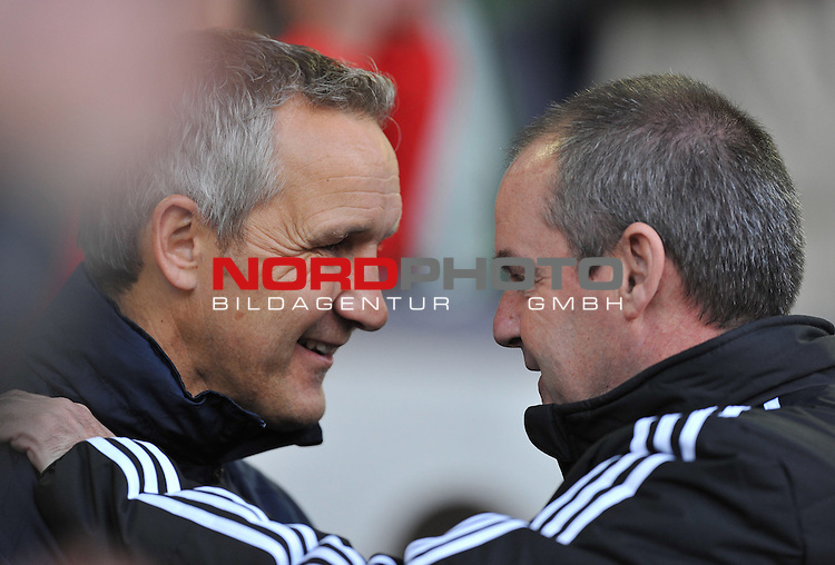 Crystal Palace care taker manger keith Millen talks withWest Bromwich Albion Manager, Steve Clarke  02/11/2013 - SPORT - FOOTBALL - The Hawthorns - West Bromwich - West Bromwich Albion v Crystal Palace - Barclays Premier LeagueCrystal Palace care taker manger keith millen<br /> Foto nph / Meredith<br /> <br /> ***** OUT OF UK *****