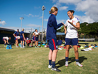 Honolulu, HI - December 4, 2015:  The USWNT trained in preparation for their friendly against Trinidad & Tobago during the USWNT Victory Tour.