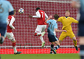 16/04/2018 Arsenal v Blackpool FAYC Semi 2L<br /> <br /> Fol Balogun opens the scoring for Arsenal