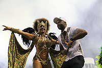 SÃO PAULO, SP, 09.03.2019 - CARNAVAL-SP - Rainha da bateria Viviane Araujo da escola de samba Mancha Verde  Campeã do Carnaval de São Paulo 2019,  comemoram no desfile das campeãs o titulo de vice campeã do grupo especial de São Paulo na noite deste sábado, 09. (Foto: Nelson Gariba/Brazil Photo Press)