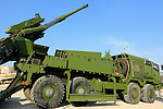 Israel, Elbit Systems Soltam Atmos 155mm Howitzer at the Armored Corps Memorial Site and Museum in Latrun