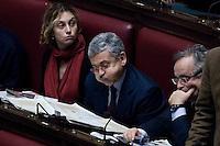 L onorevole Massimo D Alema..La Camera dei Deputati ha approvato la proposta della Giunta di concedere l autorizzazione all utilizzazione di intercettazioni di conversazioni telefoniche.<br /> Roma 21 Dicembre  2011..Photo Serena Cremaschi Insidefoto..............................