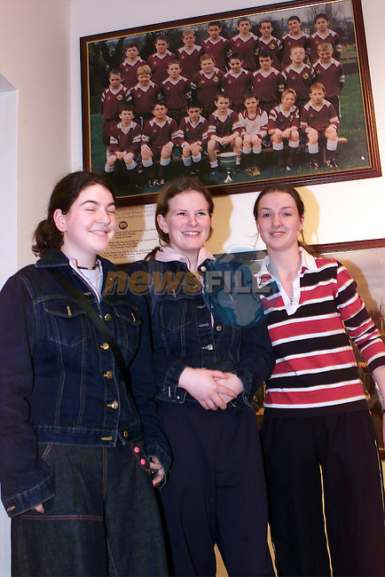 Gillian Gerrard, Elizabeth Dunne and Suzanne Markey at the Annals of St. Marys exhibition in the Droichead Arts Centre..Picture: Paul Mohan/Newsfile