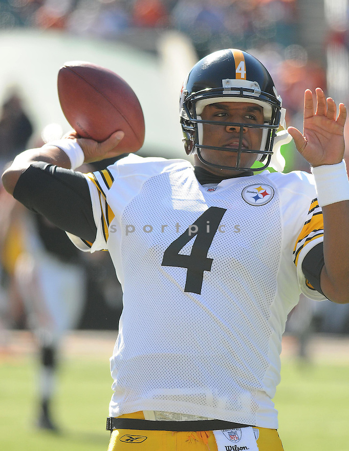 BYRON LEFTWICH, of the Pittsburgh Steelers  in action against the Cincinnati Bengals during the Steelers game in CIncinnati, OH  on October 19, 2008...The Steelers won the game 38-10.