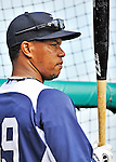9 March 2012: Detroit Tigers infielder Ramon Santiago awaits his turn in the batting cage prior to a Spring Training game against the Philadelphia Phillies at Joker Marchant Stadium in Lakeland, Florida. The Phillies defeated the Tigers 7-5 in Grapefruit League action. Mandatory Credit: Ed Wolfstein Photo
