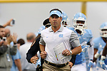 12 September 2015: UNC head coach Larry Fedora. The University of North Carolina Tar Heels hosted the North Carolina A&T State University Aggies at Kenan Memorial Stadium in Chapel Hill, North Carolina in a 2015 NCAA Division I College Football game.