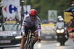 John Degenkolb (GER) Trek-Segafredo in action during Stage 1, a 14km individual time trial around Dusseldorf, of the 104th edition of the Tour de France 2017, Dusseldorf, Germany. 1st July 2017.<br /> Picture: Eoin Clarke | Cyclefile<br /> <br /> <br /> All photos usage must carry mandatory copyright credit (&copy; Cyclefile | Eoin Clarke)