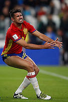 Spain Diego Costa reacts during the Fifa World Cup 2018 qualification soccer match between Italy and Spain at Turin's Juventus Stadium, October 6, 2016. The game ended 1-1.<br /> UPDATE IMAGES PRESS/Isabella Bonotto