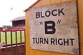West paddock centre entrance/exit Block B sign......© Phill Heywood.tel 07806 775649