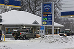 Gas station, Rockland, Maine, USA