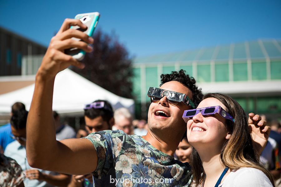 Eclipse_2<br /> <br /> Solar Eclipse on BYU Campus<br /> <br /> August 21, 2017<br /> <br /> Photography by Savanna Richardson/BYU<br /> <br /> &copy; BYU PHOTO 2017<br /> All Rights Reserved<br /> photo@byu.edu  (801)422-7322