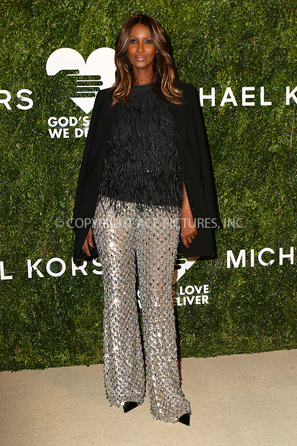 www.acepixs.com<br /> <br /> October 17 2016, New York City<br /> <br /> Iman arriving at the God's Love We Deliver Golden Heart Awards on October 17, 2016 in New York City. <br /> <br /> By Line: Nancy Rivera/ACE Pictures<br /> <br /> <br /> ACE Pictures Inc<br /> Tel: 6467670430<br /> Email: info@acepixs.com<br /> www.acepixs.com