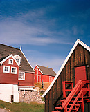 GREENLAND, Ilulissat, exterior of houses