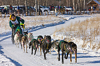 Buddy Streeper races in the 2008 Open North American Championship sled dog race, third heat, March 16, 2008.