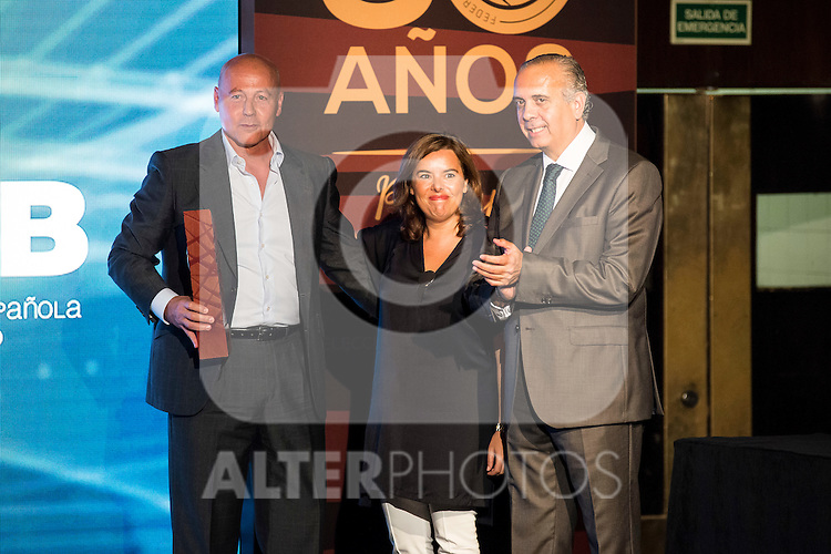 Juan Antonio Corbalan during the 80th Aniversary of the National Basketball Team at Melia Castilla Hotel, Spain, September 01, 2015. <br /> (ALTERPHOTOS/BorjaB.Hojas)