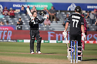Tom Blundell (New Zealand) acknowledges his century during West Indies vs New Zealand, ICC World Cup Warm-Up Match Cricket at the Bristol County Ground on 28th May 2019