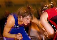 22 MAY 2010 - BIRMINGHAM, GBR - Kathryn Marsh (blue) - 2010 English Senior Wrestling Championships .(PHOTO (C) NIGEL FARROW)