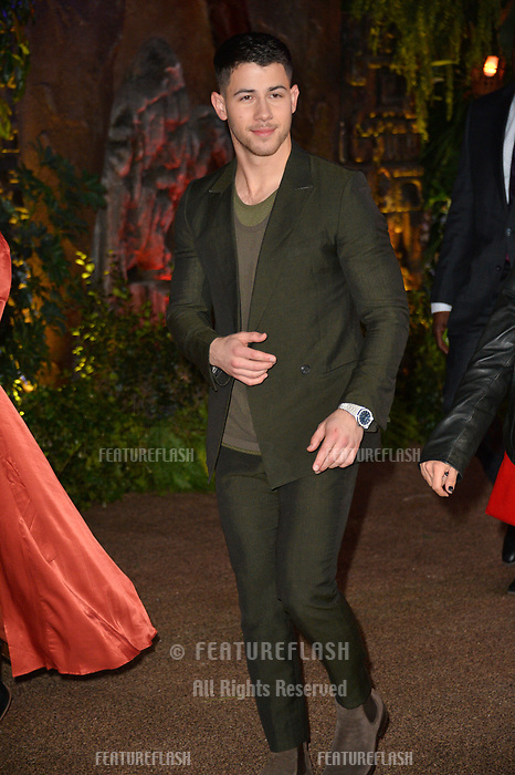 """Nick Jonas at the Los Angeles premiere of """"Jumanji: Welcome To the Jungle"""" at the TCL Chinese Theatre, Hollywood, USA 11 Dec. 2017<br /> Picture: Paul Smith/Featureflash/SilverHub 0208 004 5359 sales@silverhubmedia.com"""