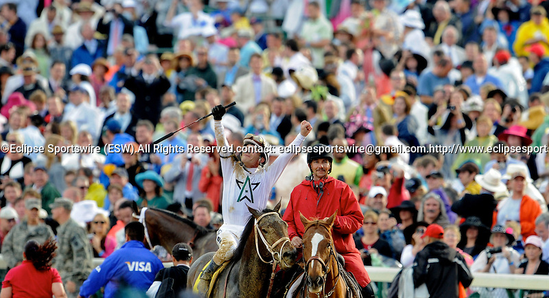 1 May 10: Calvin Borel and Super Saver win the 136th running of the Kentucky Derby at Churchill Downs in Louisville, Kentucky