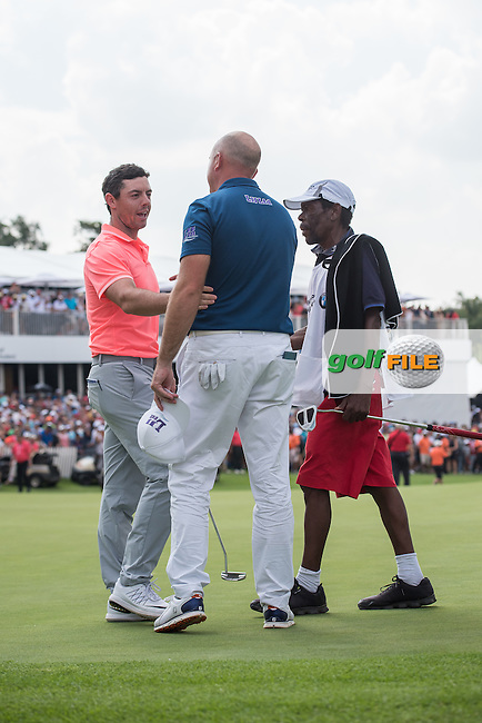 Rory McIlroy (NIR) shakes hands with Graeme Storm (ENG) after the Final round of the BMW SA Openhosted by the City of Ekurhulemi, Gauteng, South Africa. 15/01/2017<br /> Picture: Golffile<br /> <br /> <br /> All photo usage must carry mandatory copyright credit (&copy; Golffile) Picture: Golffile | Tyrone Winfield