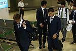 (L-R) Yoshito Okubo, Yuto Nagatomo (JPN), JUNE 27, 2014 - Football / Soccer : Japanese national soccer team are seen upon arrival back from the World Cup 2014 Brazil at Narita International Airport in Narita on Friday, June 27, 2014. (Photo by AFLO SPORT) [1205]