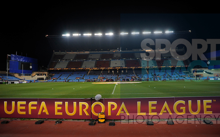 Vincente Calderon Stadium with UEFA branding - UEFA Europa League Round of 32 - Atletico Madrid vs Rubin Kazam - Vincente Calderon Stadium - Madrid - 14/02/13 - Picture Simon Bellis/Sportimage