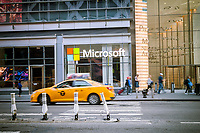 The New York offices of the Microsoft company on Eighth Avenue on Sunday, May21, 2017. (© Richard B. Levine)