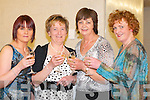 Siobhain Daly, Teresa Carmody, Mary Moynihan and Cynthia Daly all Gneeveguilla having a toast at the Fossa rowing club fashion show in Hotel Europe, Fossa on Thursday night   Copyright Kerry's Eye 2008