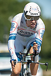 SITTARD, NETHERLANDS - AUGUST 16: Tom Dumoulin of the Netherlands riding for Team Argos-Shimano competes during stage 5 of the Eneco Tour 2013, a 13km individual time trial from Sittard to Geleen, on August 16, 2013 in Sittard, Netherlands. (Photo by Dirk Markgraf/www.265-images.com)