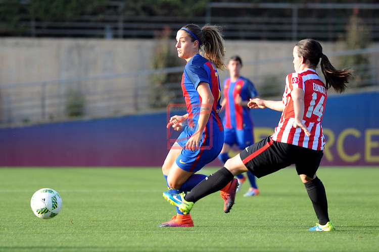 Spanish Women's Football League Iberdrola 2016/17 - Game: 11.<br /> FC Barcelona vs Athletic Club: 2-1.<br /> Alexia Putelles vs Eunate.