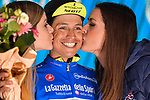 Esteban Chaves (COL) Mitchelton-Scott wins Stage 6 and takes over the mountains Maglia Azzurra of the 2018 Giro d'Italia, running 169km from Caltanissetta to the Etna (Osservatorio Astrofisico), the first mountain top finish of the race finishing on the Osservatorio Astrofisico climb for the first time in race's history Sicily, Italy. 10th May 2018.<br /> Picture: LaPresse/Marco Alpozzi | Cyclefile<br /> <br /> <br /> All photos usage must carry mandatory copyright credit (&copy; Cyclefile | LaPresse/Marco Alpozzi)