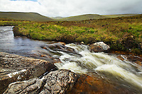 Bullalla River running along Glenveagh National Park, Glendowanbeg, Glendowan, County Donegal, Republic of Ireland