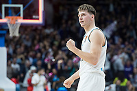 Real Madrid Luka Doncic celebrating the victory during Turkish Airlines Euroleague match between Real Madrid and Baskonia Vitoria at Wizink Center in Madrid, Spain. January 17, 2018. (ALTERPHOTOS/Borja B.Hojas) (NortePhoto.com NORTEPHOTOMEXICO)