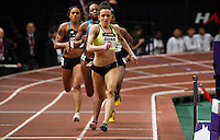 Fawn Dorr run during her women 500 yard dash during the U.S open track & Field in the madison Square Garden in New York, United States. 28/01/2012. Photo by Kena Betancur / viewpress...
