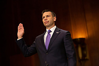 Acting Secretary of the United States Department of Homeland Security Kevin McAleenan is sworn in before the U.S. Senate Judiciary Committee on Capitol Hill in Washington D.C., U.S. on June 11, 2019. Photo Credit: Stefani Reynolds/CNP/AdMedia