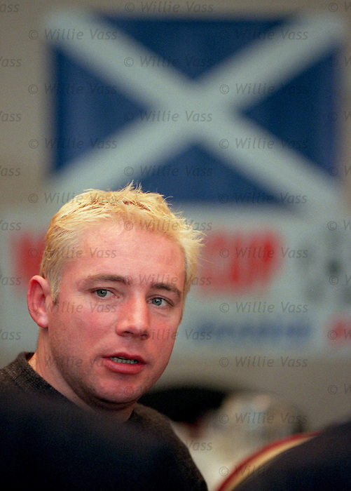 Ally McCoist with dodgy blonde highlights