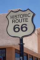 Historic Route 66 sign in Santa Rosa, New Mexico.