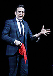 """Paul Dabek (The Trickster) during a press preview of """"The Illusionists - Magic of the Holidays"""" at the Neil Simon Theatre on December 3, 2019 in New York City."""