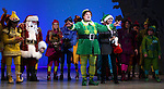 Jordan Gelber & Company during the First Performance Curtain Call of the Broadway Holiday Hit Musical 'Elf'  at the Al Hirschfeld  Theatre in New York City on 11/09/2012
