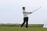 Matias Honkala (Finland) on the 1st tee during Round 1of the Flogas Irish Amateur Open Championship 2019 at the Co.Sligo Golf Club, Rosses Point, Sligo, Ireland. 16/05/19<br /> <br /> Picture: Thos Caffrey / Golffile<br /> <br /> All photos usage must carry mandatory copyright credit (© Golffile | Thos Caffrey)