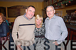 Pictured at a Fund Raising Dance in Fr. Casey's GAA Clubhouse in Abbeyfeale on Sunday in aid of local volunteers who will be travelling to Kenya with the Ray of Sunshine Foundation to build schools were the three volunteers L-R : Pat Lenihan  Mary Barry and Seamus Hickey all of Mountcollins