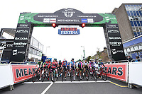 Picture by Allan McKenzie/SWpix.com - 15/05/2018 - Cycling - OVO Energy Tour Series Womens Race - Round 2:Motherwell - The womens race prepares to roll out.