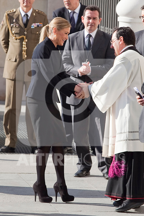 Madrid Government delegate Cristina Cifuentes attends the 11M March 11, 2004 terrorist attempt remember mass at Almudena Cathedral in Madrid, Spain. March 11, 2014. (ALTERPHOTOS/Victor Blanco)