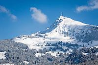 Austria, Tyrol, Reith near Kitzbuhel: winter scenery at Kitzbuhel Horn mountain | Oesterreich, Tirol, Reith bei Kitzbuehel: Winterlandschaft am Kitzbueheler Horn